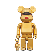 Bearbrick x Tyga x Hajime Sorayama 100% & 400% Set Gold