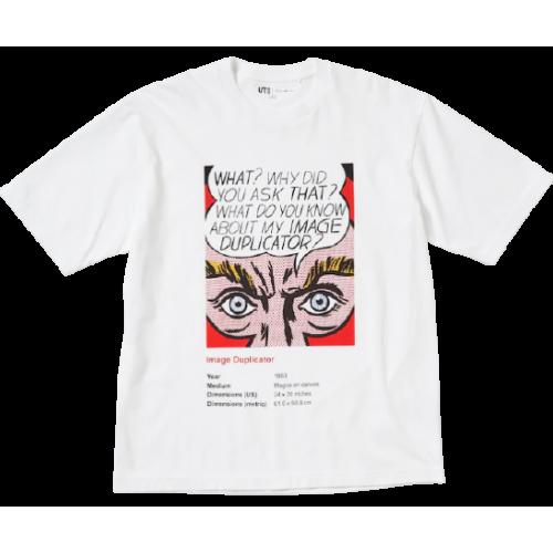 Roy Lichtenstein x Uniqlo White What? Tee