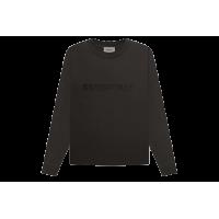 FOG Boxy Long Sleeve T-Shirt Applique Logo Weathered Black/Washed Black