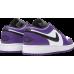 Jordan 1 Low Court Purple White (GS)