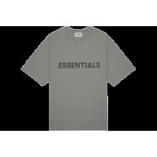 FOG Essentials Boxy T-Shirt Applique Logo Gray Flannel/Charcoal