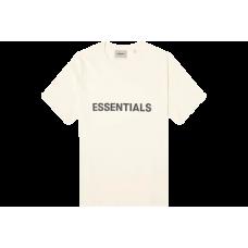 FOG Essentials Boxy T-Shirt Applique Logo Butter Cream