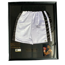 Manny Pacquiao Signed Shorts Frame