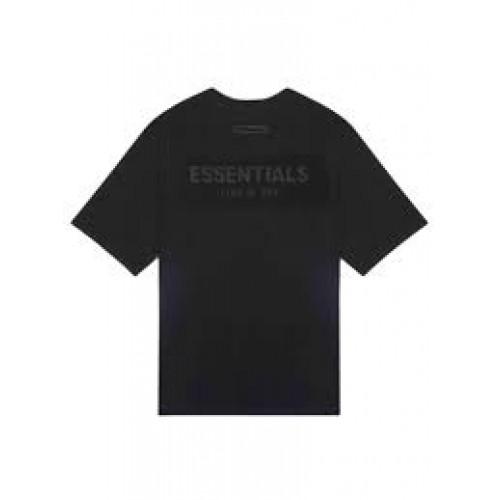FOG Essentials Black Tee Back Logo