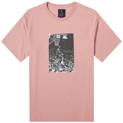 Air Jordan X Union Pink Short Sleeve Tee Pink