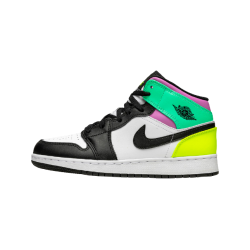 Jordan 1 Mid Pastel Black Toe (GS)