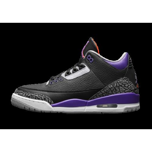 Jordan 3 Retro Black Court Purple