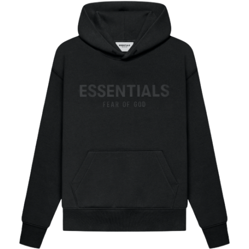 FEAR OF GOD ESSENTIALS Kids Pull-Over Hoodie Black/Stretch Limo