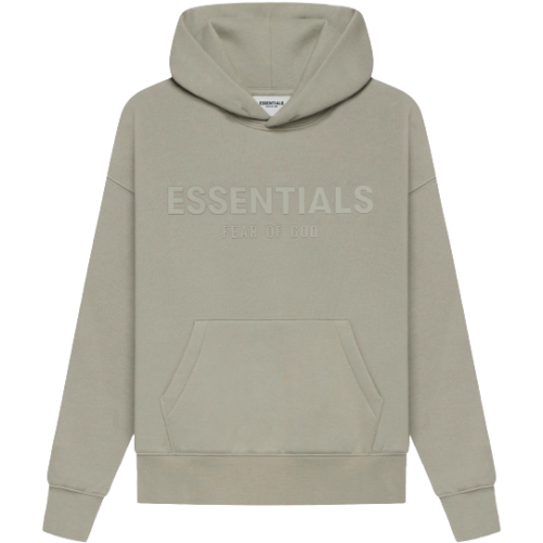 FEAR OF GOD ESSENTIALS Kids Pull-Over Hoodie Moss/Goat