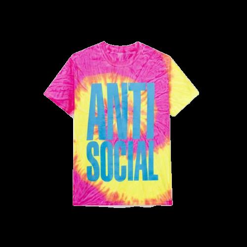 Anti Social Social Club Heatwave Pink Tie Dye Tee