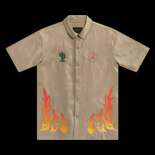 Cactus Jack by Travis Scott x Jordan Button Down Shirt Khaki