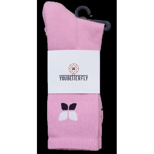Youbetterfly Baller Socks V2 Pink