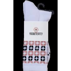Youbetterfly Baller Socks V2 White