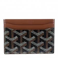 Goyard Saint Sulpice Brown Leather Card Holder