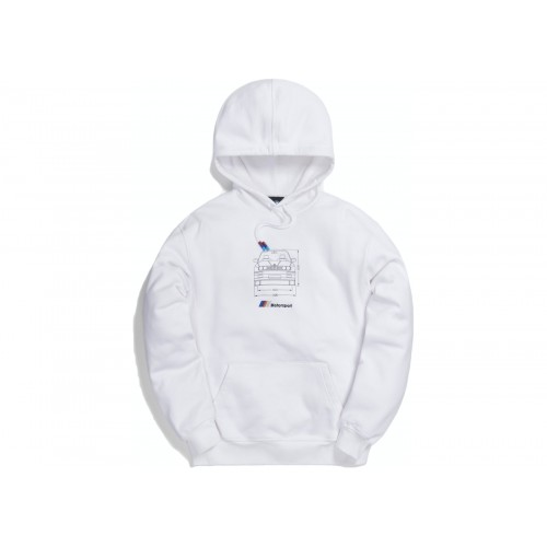 Kith x BMW Front Dimensions Hoodie White