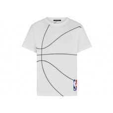 LOUIS VUITTON X NBA EMBROIDERY DETAIL T SHIRT MILK WHITE