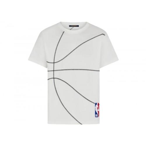 LOUIS VUITTON X NBA EMBROIDERY DETAIL T SHIRT MILK WHITE