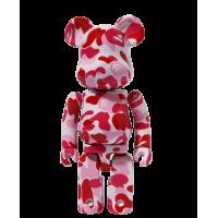 Bearbrick BAPE Play 100% Camo Pink