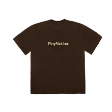 Travis Scott PS5 Motherboard Logo T-Shirt Brown