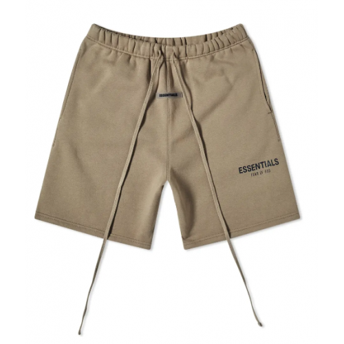 """Fear Of God Essentials """"Taupe"""" Sweat Short"""