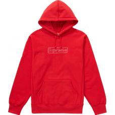 Supreme KAWS Chalk Logo Hooded Sweatshirt Red