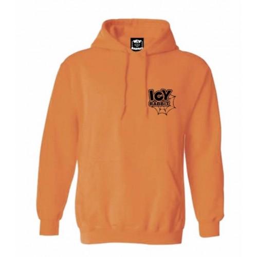 Icy Rabbit Web Orange Hoodie