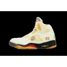 Nike Air Jordan 5 X Off White Sail
