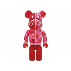 BAPE x BE@RBRICK CAMO SHARK 1000% Clear Red