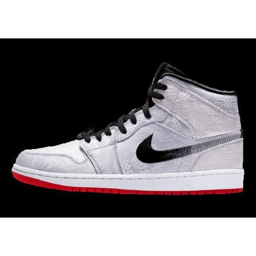 Nike Air Jordan 1 X Clot Mids White