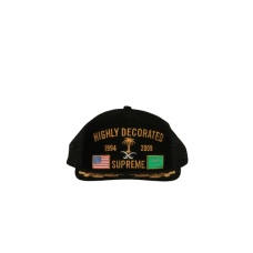 Supreme Highly Decorated Black Hat