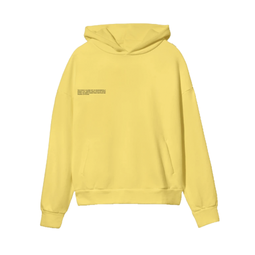 Pangaia Lightweight Recycled Cotton Hoodie Saffron Yellow