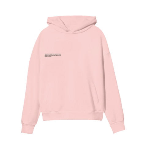 Pangaia Lightweight Recycled Cotton Hoodie Rose Quartz