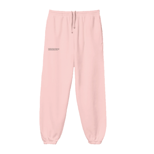 Pangaia Lightweight Recycled Cotton Track Pants Rose Quartz