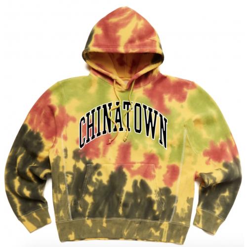 Chinatown Market Tie Dye Varsity Hoodie Yello
