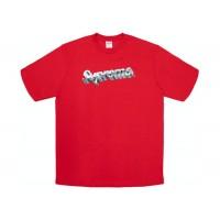 Supreme Chrome Logo Tee Red