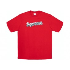 Supreme Chrome Logo Tee Red