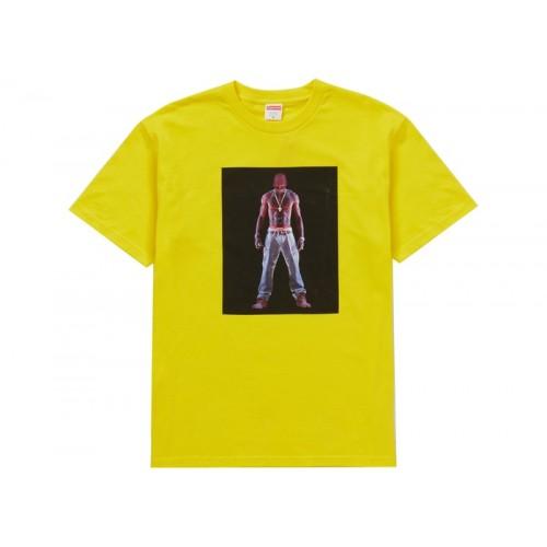 Supreme Tupac Hologram Tee Yellow