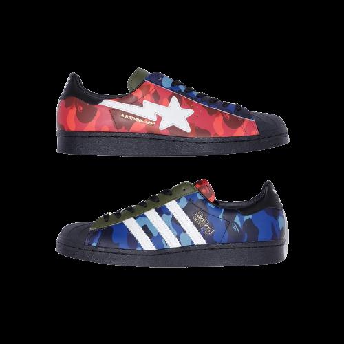 Adidas Superstar 80s Bape Multi Camo