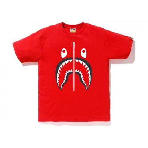 Bape Shark Tee Red