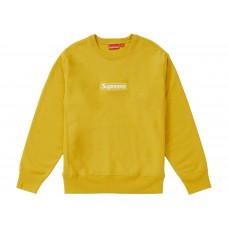 Supreme Box Logo Crew Neck Mustard