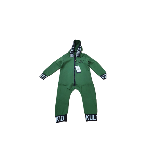 KULT HOODED BABY ONE PIECE JUNGLE GREEN