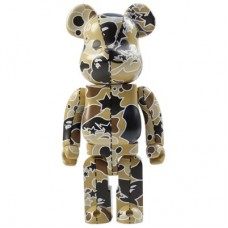 Bape Play Psych Camo Brown Be@rbrick 400% 2008