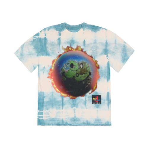 Travis Scott World Tie Dye Blue Tee