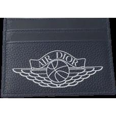 Air Jordan X Dior Card Holder Navy Blue
