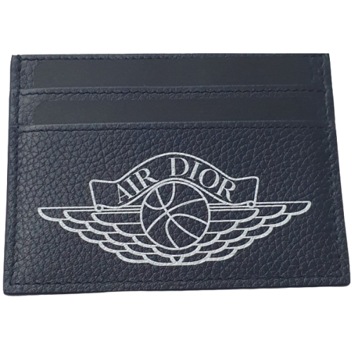 Air Jordan X Dior Card Holder Navy Blue
