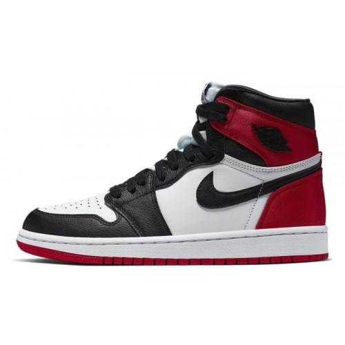Air Jordan 1 Black Toe Satin Women