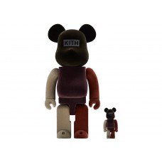 Kith x Be@rbrick Set Flocked 400% and 100%