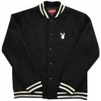2011 Playboy X Supreme Varsity Jacket  Black