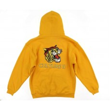Migos Unisex Tiger Culture II Hooded Sweatshirt Yellow