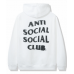 Anti Social Social Club Spiral White Hoodie